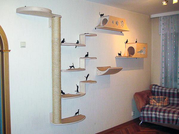Домик для кошки. Комплекс для кошек. Мебель для кошки. Купить когтеточку.